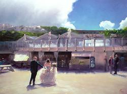 Wedding oil portrait painting