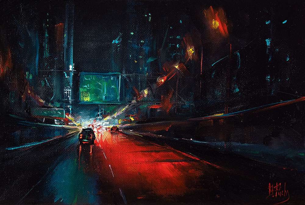 city night painting