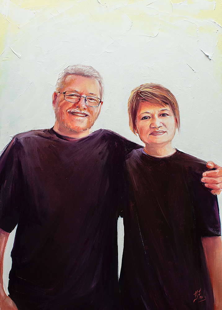 Parents portrait painting