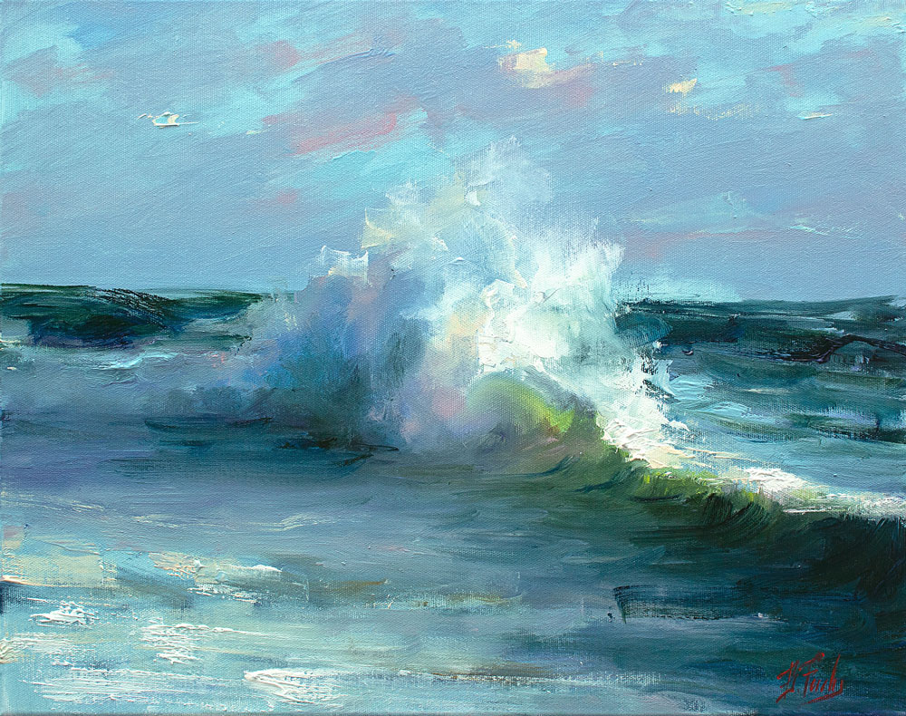 Wave Crashing art