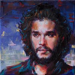 Contemporary oil portrait. Jon Snow