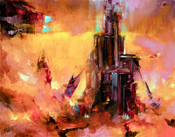 Sci fi painting