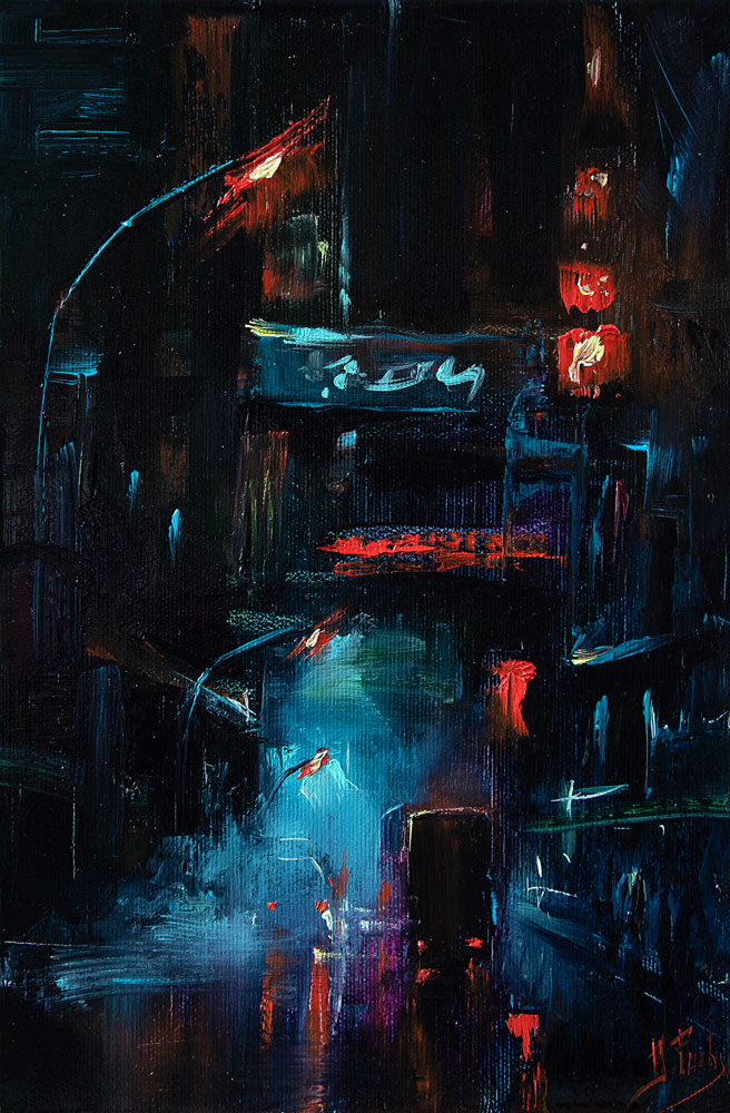 City nightscape art
