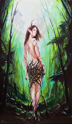Commission painting of a Dryad