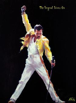 Freddie Mercury portrait painting