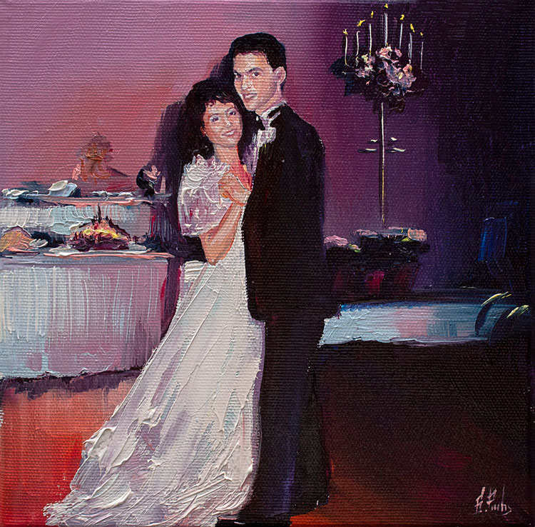 couple portrait painting