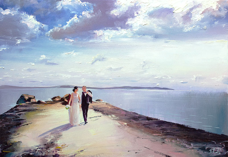 Wedding commissioned painting