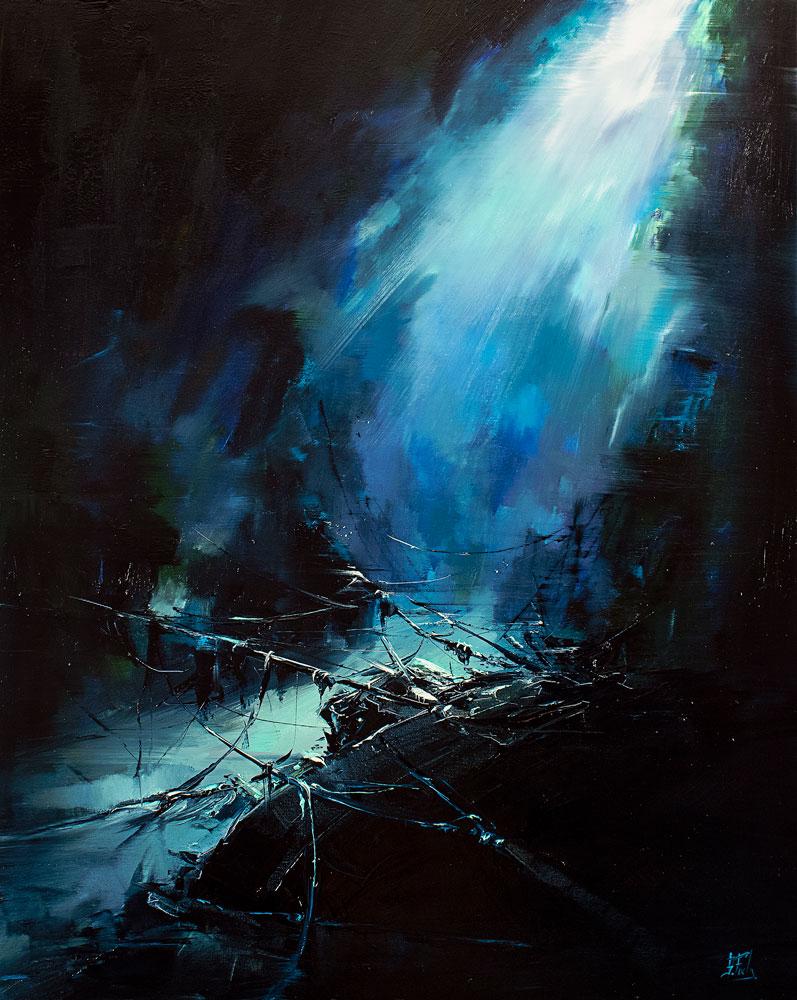 Shipwreck painting