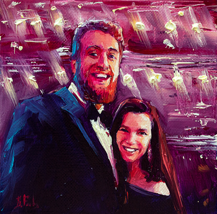 commissioned portrait painting couple