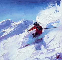 Skier Painting Print