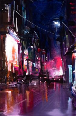 Urban City painting