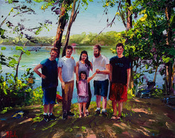 Family custom portrait painting