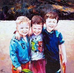 Children portrait painting