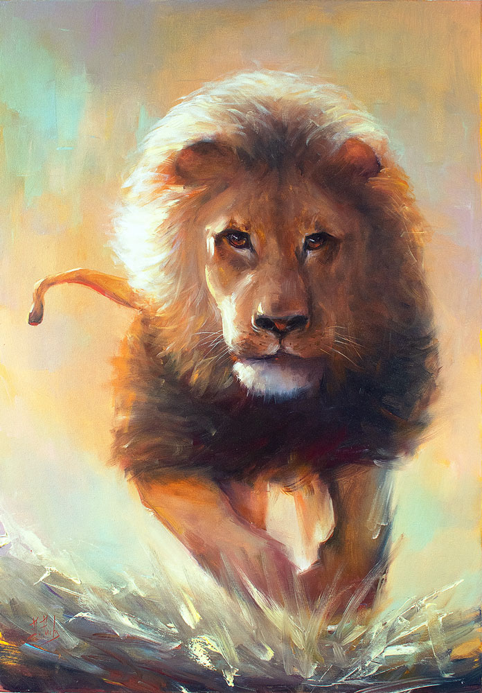 Lion art painting