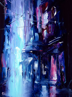 Cyber City painting Neon