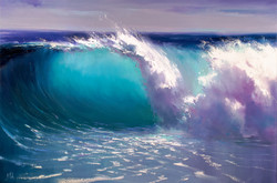Blue Wave. Seascape painting