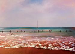 Beach Painting Print