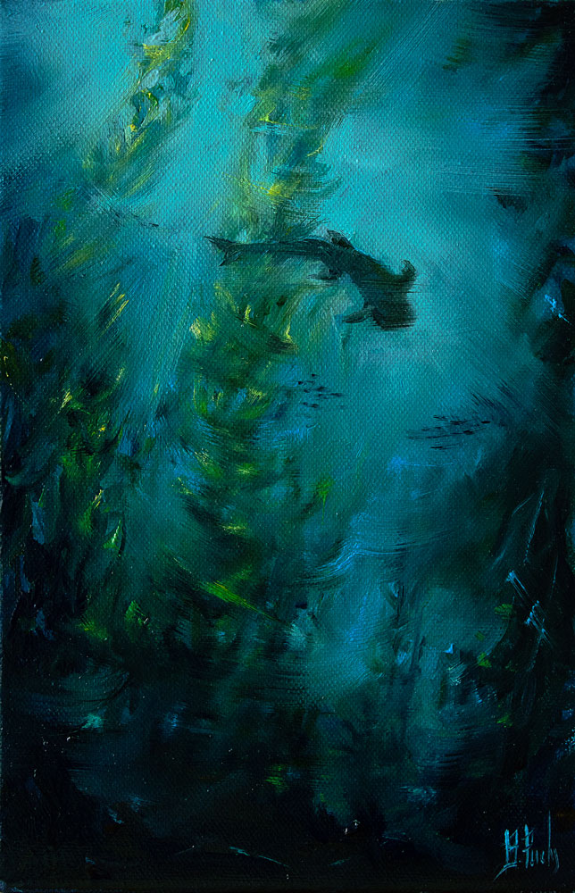 Underwater art painting