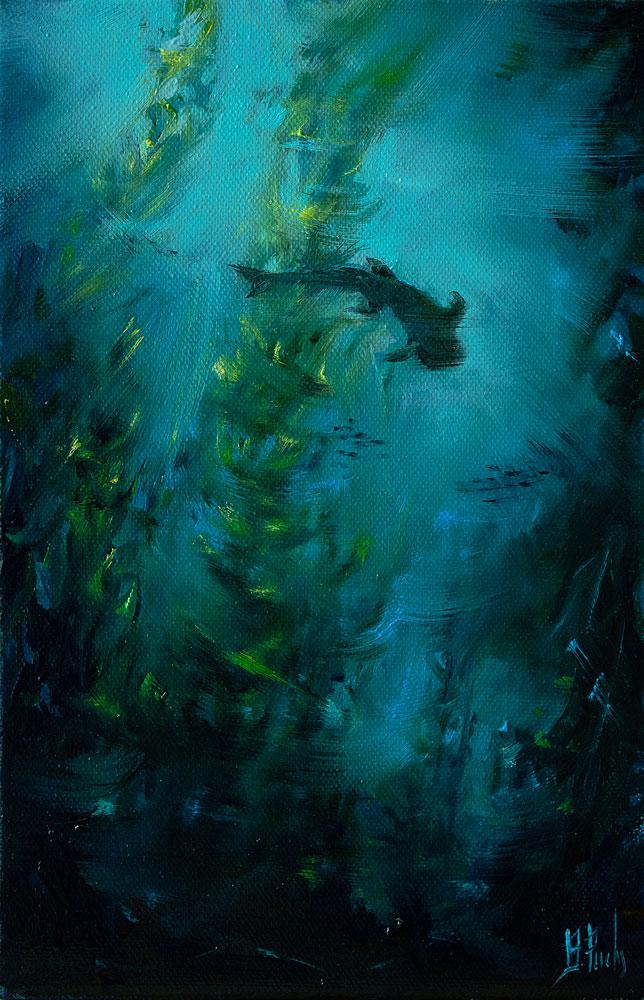 Underwater art painting