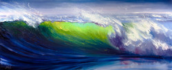 Bright Surf. Ocean Beach Painting