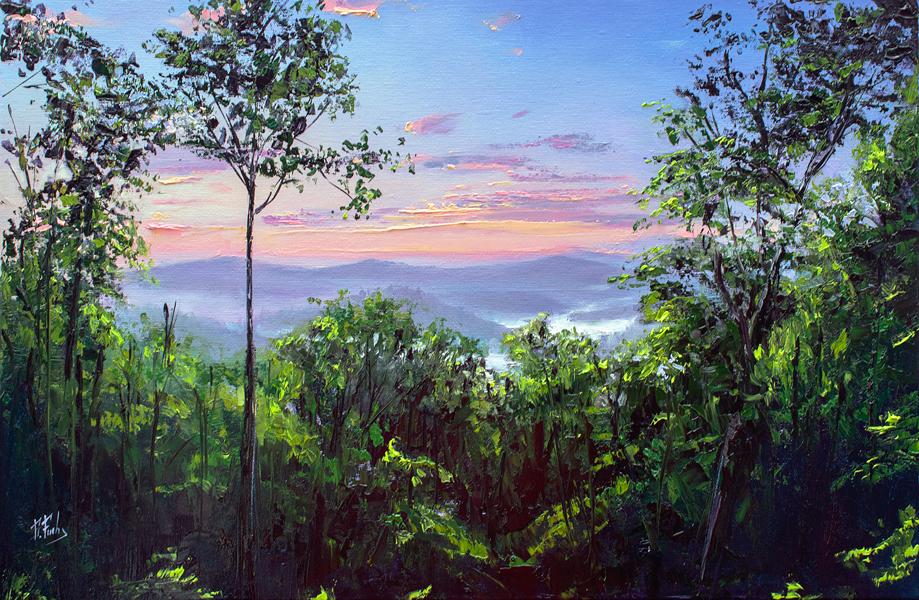 Blue Ridge Mountain scene