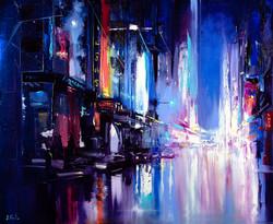 Neon City Painting