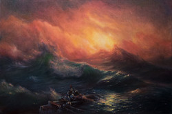 The Ninth Wave, After Aivazovsky