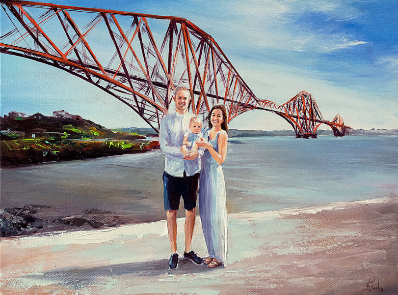 Custom family portrait painting