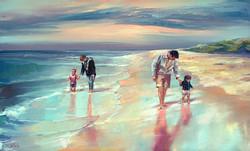 Family oil portrait