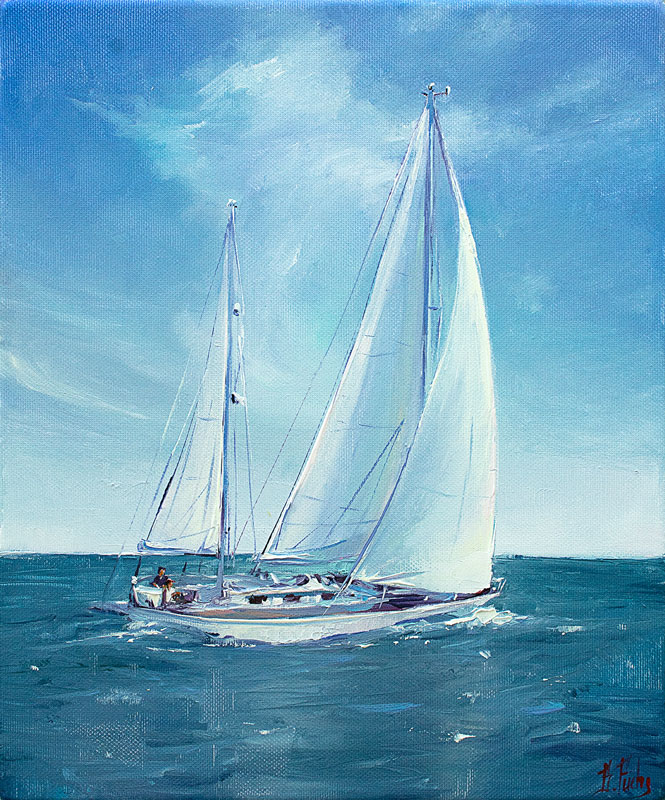 Commissioned sailing art