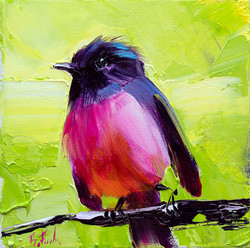 Pink Robin painting