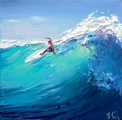 Surfer Painting Print