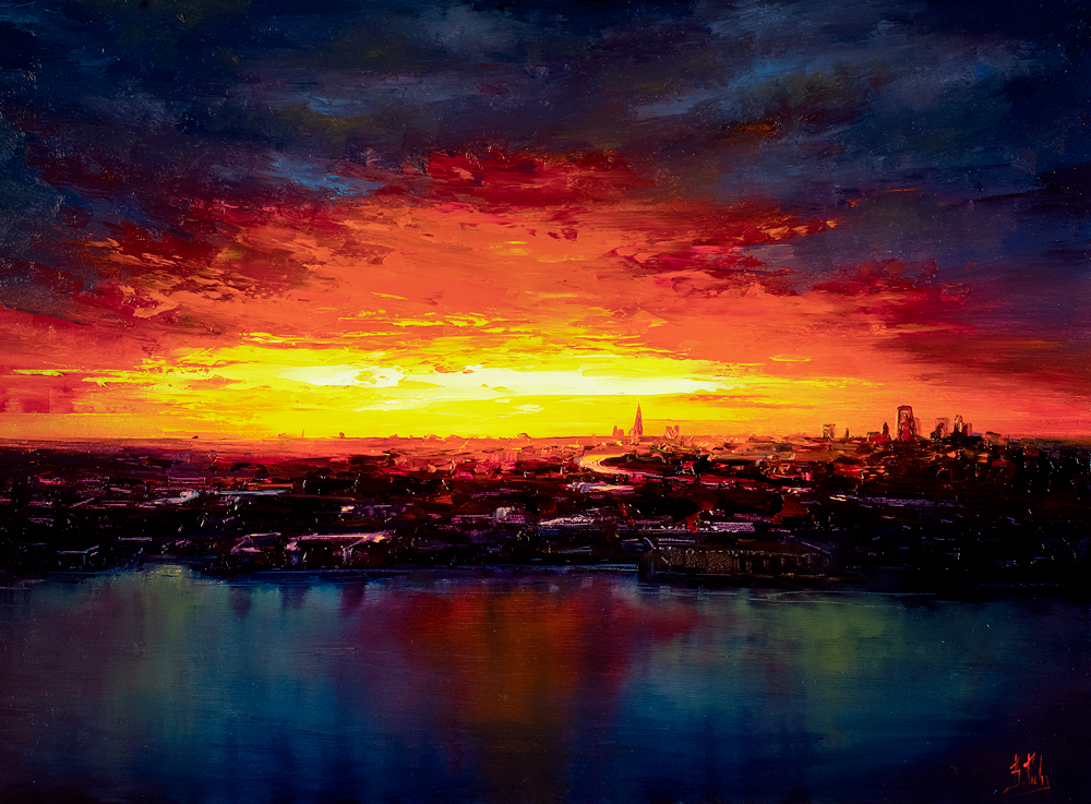 London Skyline painting