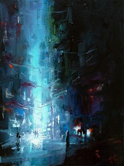 Neon City Painting Print