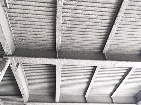 Installed cementicsious Fireproofing
