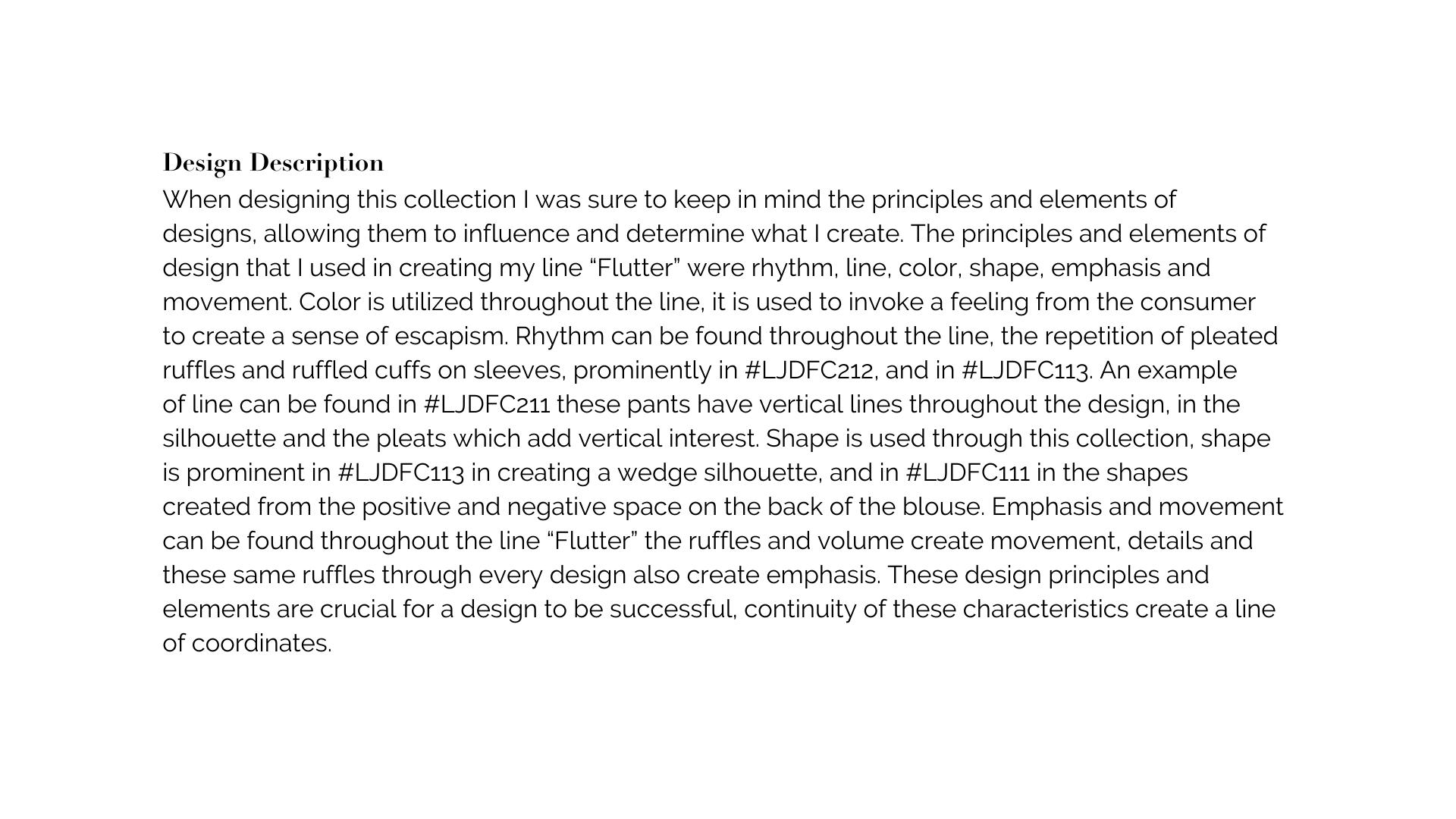 Design Description | Explanation
