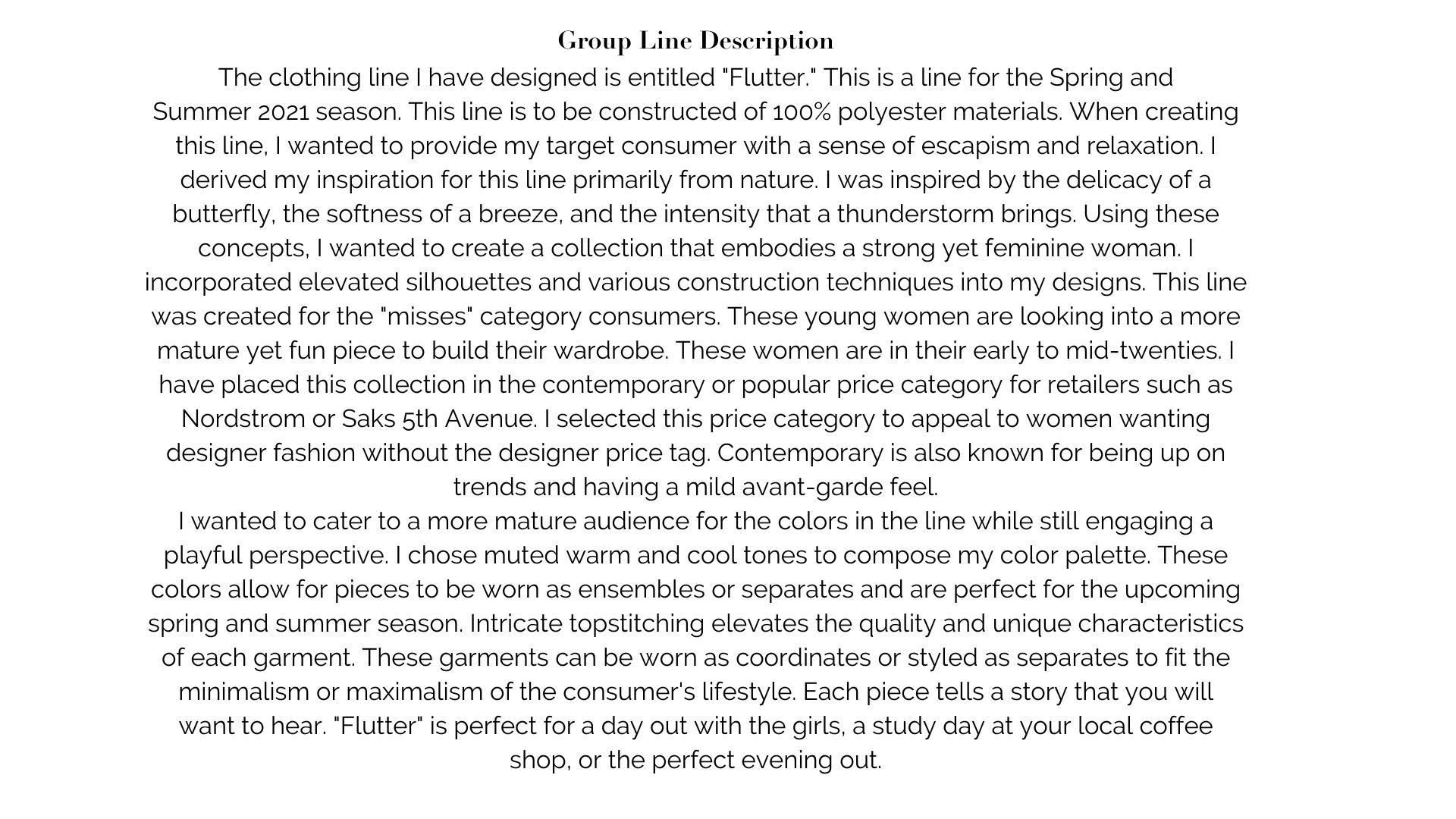 Group Line Description