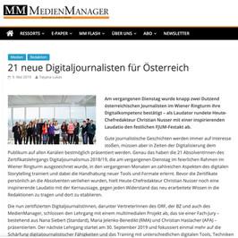 21 neue Digitaljournalisten für Österreich