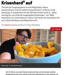 "Markus Feigl kocht am ""NÖN-Krisenherd"" auf"