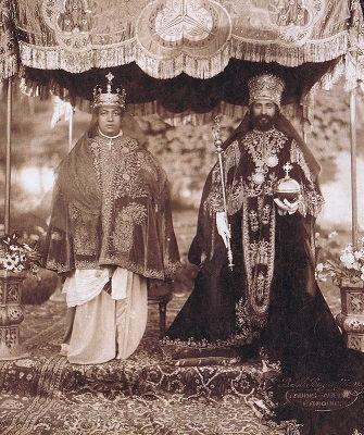 Empress Menen Emperor Haile Selassie I