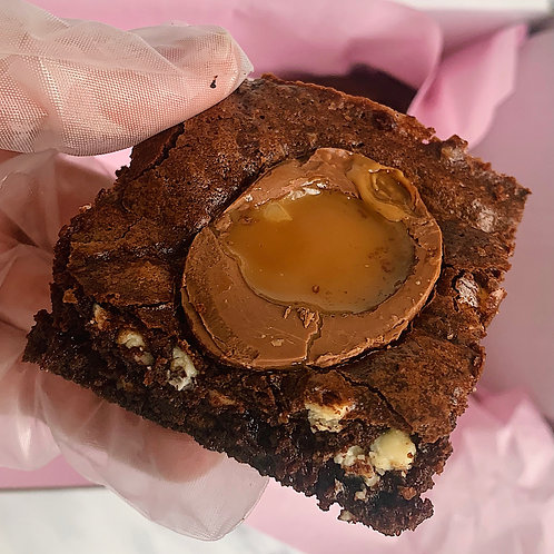 Caramel Egg Brownie Box