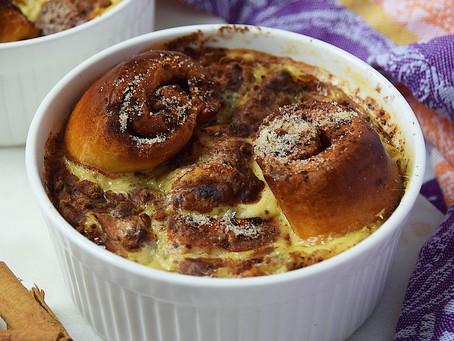 Cinnamon Roll Bread & Butter Pudding