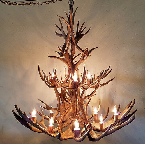 Moose and Mule Deer double tier with extra uprights