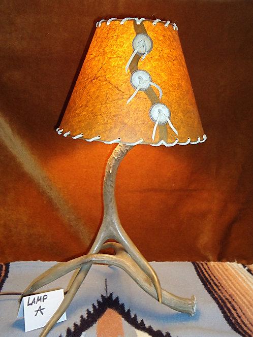 Antler Mule deer desk lamp (Pair)