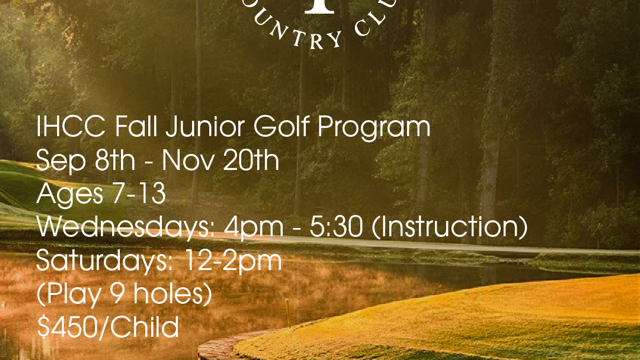 Fall 2021 Junior Golf Program