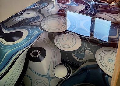 3D epoxidová podlaha v obývacím pokoji