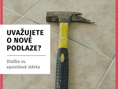 Uvažujete o nové podlaze? Váháte mezi dlažbou a litou epoxidovou stěrkou?