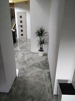 Epoxidová podlaha - mramorování