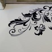 Ornamenty na zem - tisk a intalace