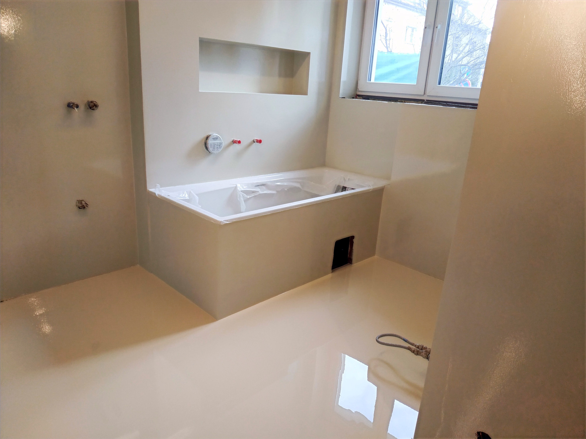 Koupelna - epoxidová stěrka